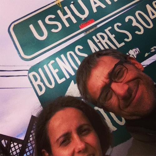 selfie à Ushuaïa Argentine