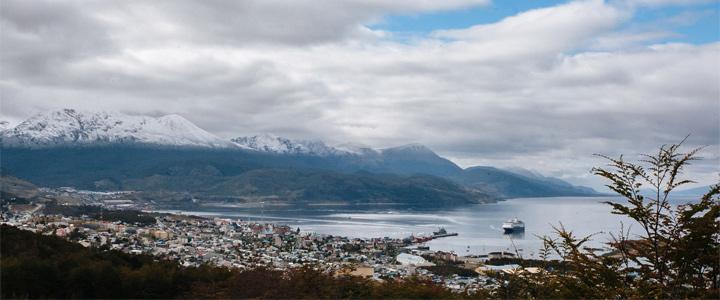 port d'ushuaïa en terre de feu