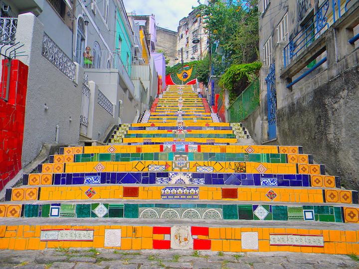 escalier en mosaïque célèbre à Rio de Janeiro