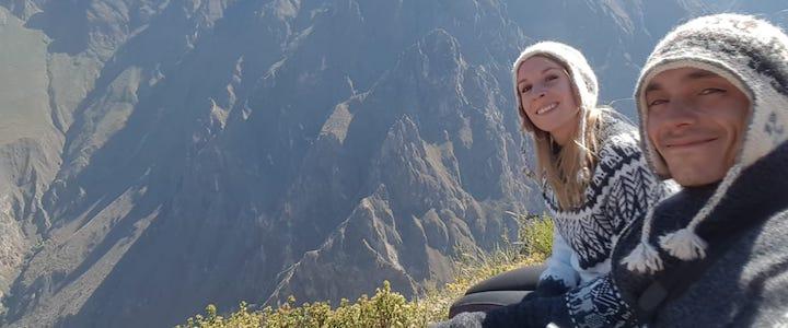 franck et julien au canyon de colca pérou