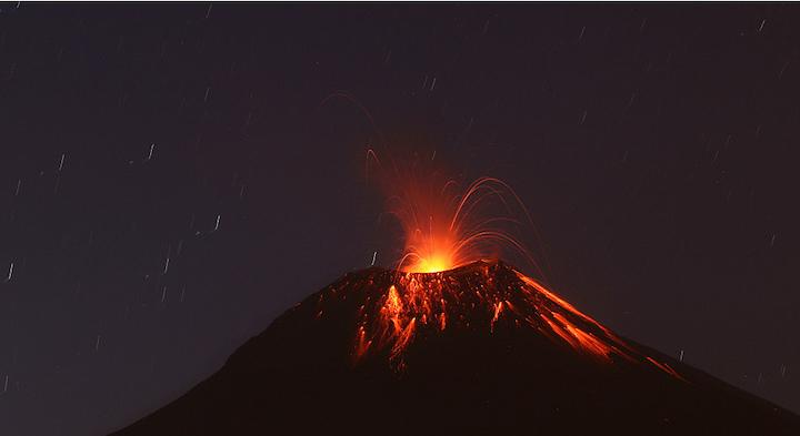 éruption volcan Tungurahua